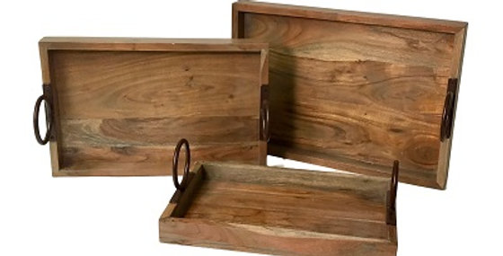 84014 Set of 3 Champagne Trays