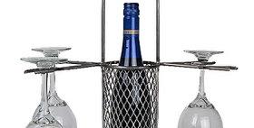 86607 Mesh Bottle Carrier 4 Stem-Natural-26607