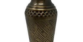 52003 Small Cross Weave Vase-Ant Brass