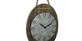 20025 Work Hard Paperclip Wall Clock