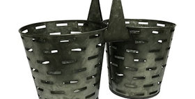 50028 Double Olive Bucket Planter