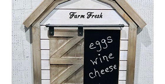 Farm Fresh Wood Barn Wall Chalkboard