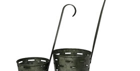 50027 Set of 2 Dipper Planter Olive Buckets
