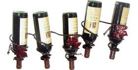 88588 Grapevine 5 Bottle Wine Rack-Merlot-28588