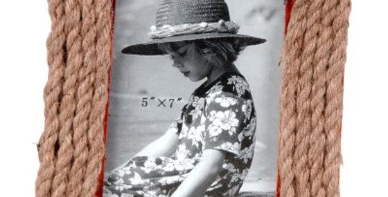 692803 PHOTO FRAME(ROPE)5X7-WOOD