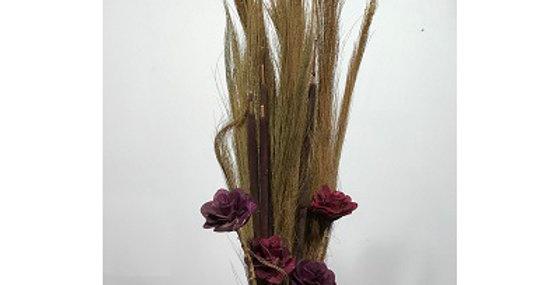 Prairie Grass/Cattails & WINE Wild Rose Drop-in Bo