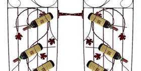 81594 Two Assorted 4 Bottle Grapevine Wine Gates-Meteor-
