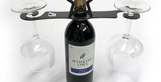 86645 Texas Star Swirl Wine Glass Holder-Natural-26645
