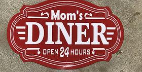 64023 Moms Diner Red Sign