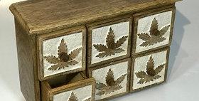 60061 Cannabis Design 6 Drawer Chest