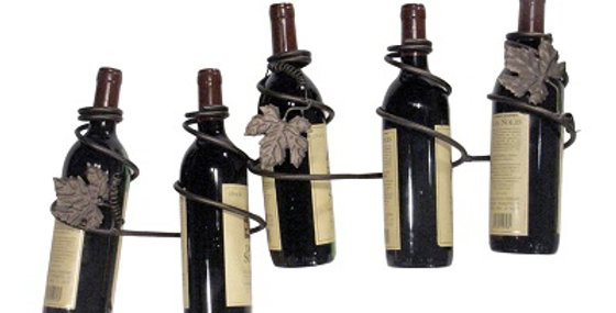 Grapevine 5 Bottle Wine Rack-Meteor-21588