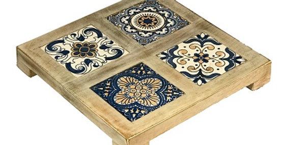 79026 Azulejjos 4-Tile White Wash Trivet