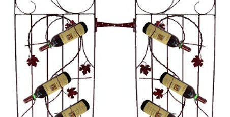 Two Assorted 4 Bottle Grapevine Wine Gates-Merlot-
