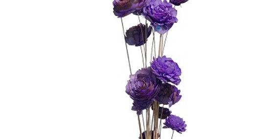 20 Stem Ting Mixed Flower Branches - Lavender