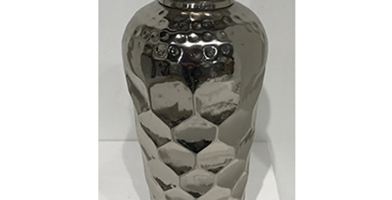 52005 Medium Honeycomb Vase-Chrome