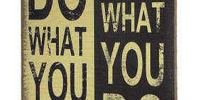 11007 Do What You Love Wall Decor Burlap