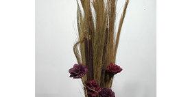 41131 Prairie Grass/Cattails & WINE Wild Rose Drop-in Bo