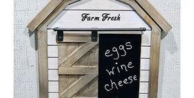 33048 Farm Fresh Wood Barn Wall Chalkboard