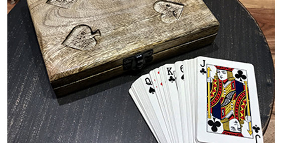 60034 Playing Card Covered Box