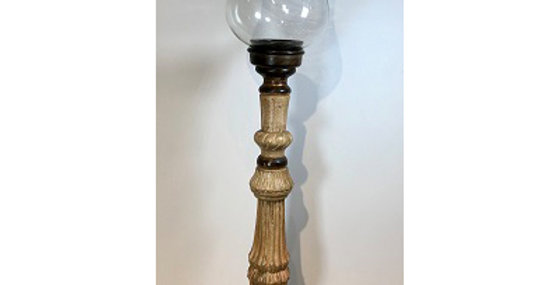 Large Hurricane Candle Stand with Globe