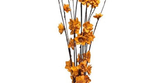 12 Stem Ting Rukmani Flower Branches - Tangerine