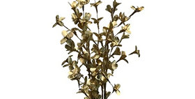 41078 5 Palm Lily White/Gold Bunch