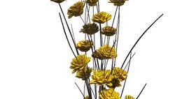 41033 24 Stem Ting Zinnia Flower Branches - Sunkist