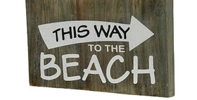 74027 This Way Beach Wall Plaque