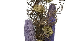41144 CURLY TING LAVENDER LUFFA & SAGE FLOWERS BOUQUET