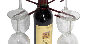 88069 Wine Bottle Four Stem Contemporary Holder-Merlot-2