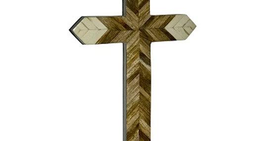 79032 Herringbone InLaid Wall Cross