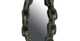 67047 OVAL CHAIN WALL MIRROR