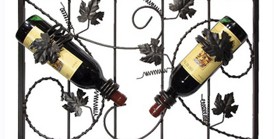 Grapevine 2 Bottle Wine Rack-Meteor-21597