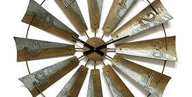 10310 3-D 40-inch Windmill Wall Clock