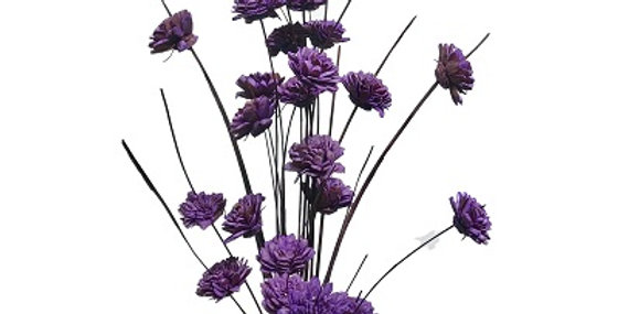 24 Stem Ting Zinnia Flower Branches - Lavender