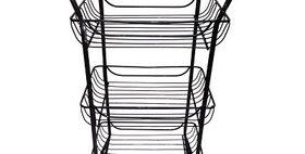10219 Three Tier Utility Basket-Distressed Black