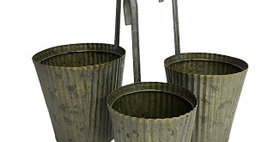 31018 Set of 3 Fluted Dipper Planters