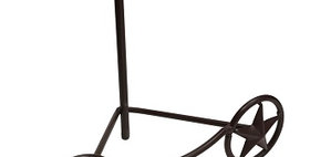 85005 Small Texas Star Easel - Rust - 15005
