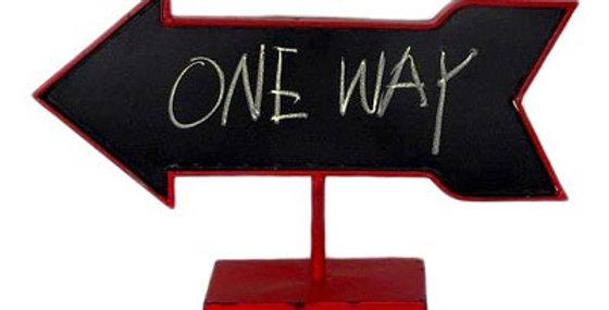 Arrow Table Chalkboard Red