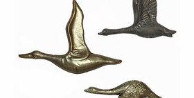 20061 Set of 3 Mallard Ducks / Metal Wall Decor
