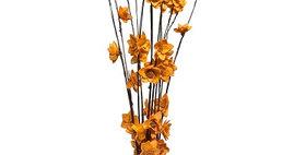 41018 12 Stem Ting Rukmani Flower Branches - Tangerine
