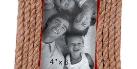 692804 PHOTO FRAME(ROPE)4X6-WOOD