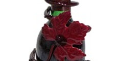 Grapevine Wine Bottle Topper Candleholder-Merlot-2