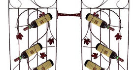 88594 Two Assorted 4 Bottle Grapevine Wine Gates-Merlot-