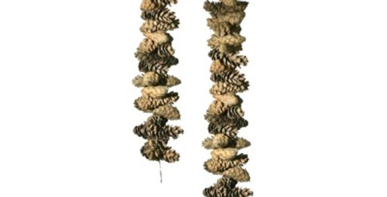 Set of 30 Frosted Pine Cone Garland