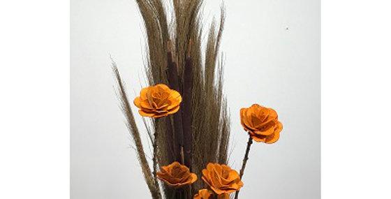 Prairie Grass/Cattails & BURNT ORANGE Wild Rose Dr