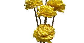 41013 6 Stem Chrysanthemum Flower Branches - Sunkist