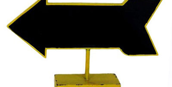 Arrow Table Chalkboard Yellow
