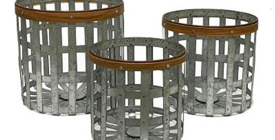 Set of 3 Mojave Round Baskets