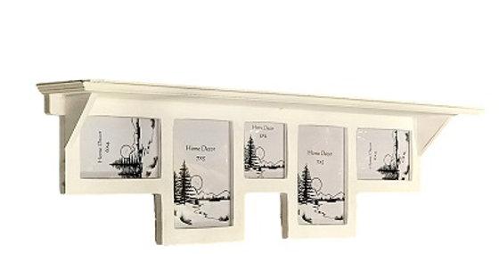 73043 Chesapeake Cream Wall  Collage 5- Frame Shelf